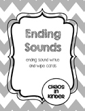 Ending sounds write and wipe cards