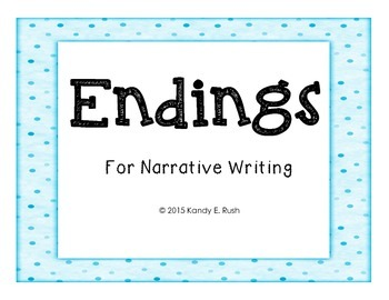 Endings Posters for Narrative Writing