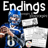 Endings Practice and Fluency (Football and Super Bowl Theme)