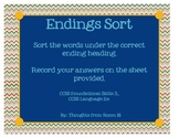 Endings Sort (-s, -es, -ies) from Reading Street Unit 1, Week 2