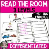 -ed -ing Endings Read the Room/Write the Room (Differentiated)