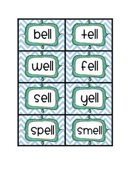 Endings -ll word sort