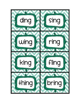 Endings -ng word sort