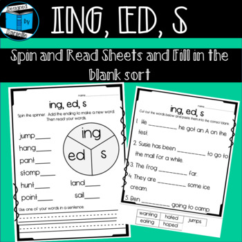 Endings -s, -ed, -ing Worksheets by Designed by Danielle | TpT