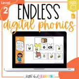 Endless Digital Phonics Bundle - LEVEL 2   Distance Learning   Orton-Gillingham