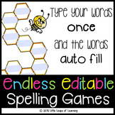 Endless Editable Spelling Games