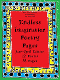 Endless Imagination: January-April Edition (12 poems, 35 pages, Grades 2&3)