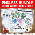 Kindergarten Sight Word Books (Endless)