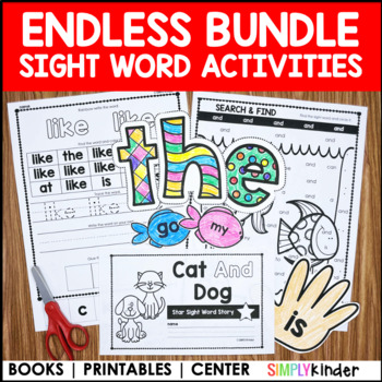 photograph relating to Sight Word Book Printable identified as Kindergarten Sight Phrase Textbooks (Unlimited) : Sight Words and phrases Kindergarten  Preschool