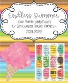 Endless Summer Date Labels Stickers for Erin Condren Teach