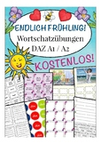 Endlich FRÜHLING! Spring German worksheet 20 pages activities /games - 20 PAGES