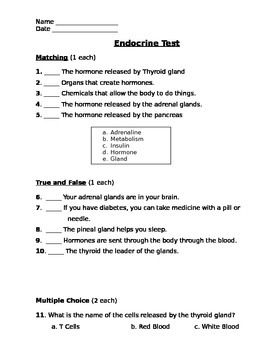 Endocrine Assessment (Test)
