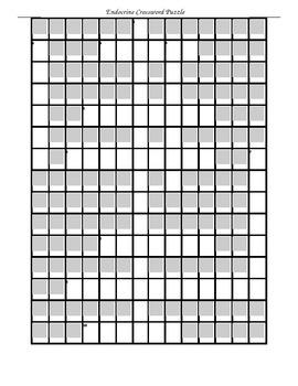 Endocrine Crossword Puzzle
