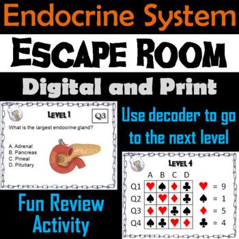 Endocrine System: Escape Room - Science: Anatomy (Human Body Activity)
