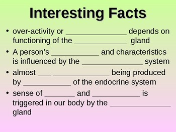 Endocrine System Student Fill-in Notes