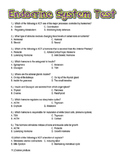 Endocrine System Test with Answer Key