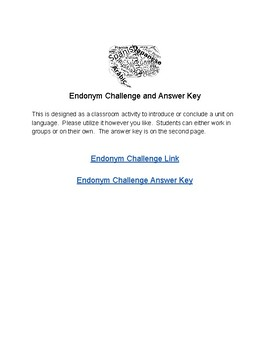 Endonym Challenge (Country Names in their Language)