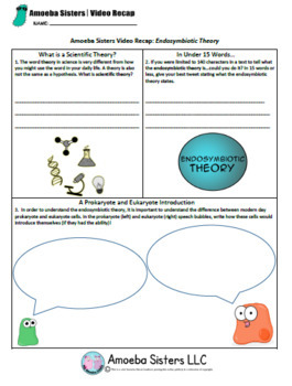 Endosymbiotic Theory- SELECT Handout + Answer Key by Amoeba Sisters
