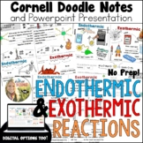 Endothermic Exothermic Reactions Cornell Doodle Notes Dist