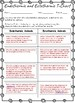 Endothermic and Ectothermic Animals T-Chart