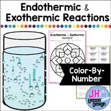 Endothermic and Exothermic Reactions: Color By Number