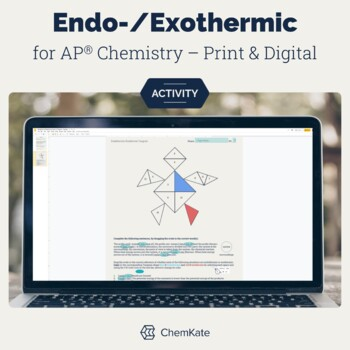 Endothermic and Exothermic Reactions Color-In Tangram for AP Chemistry
