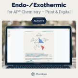Endothermic and Exothermic Reactions Color-In Tangram | Distance Learning