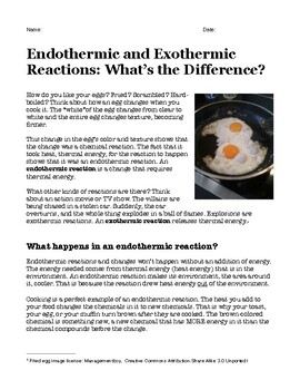 Endothermic and Exothermic Reactions: What's the Difference?