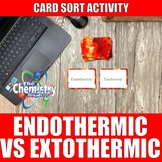 Endothermic vs Exothermic Card Sort Activity