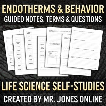 Endotherms (Mammals, Birds) & Animal Behavior: Guided Notes / Self Study