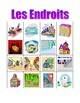 Endroits (Places in French) Bingo game