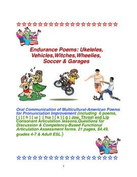 Endurance Poems:Ukeleles,Vehicles,Witches,Wheelies,Soccer