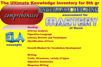 Endurance building, comprehensive assessm of priority standards for grade 8 ELA