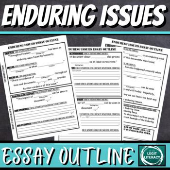 Enduring Issues Essay Pre-Writing Organizer