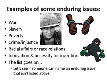 Enduring Issues Work Up Lesson