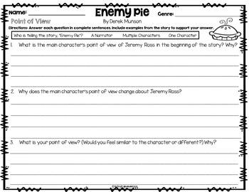 Enemy Pie Common Core: Book Companion