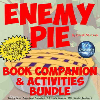 Enemy Pie Book Companion and Interactive Notebook Reading Activities Bundle