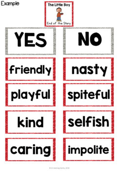 Enemy Pie Character Traits Game