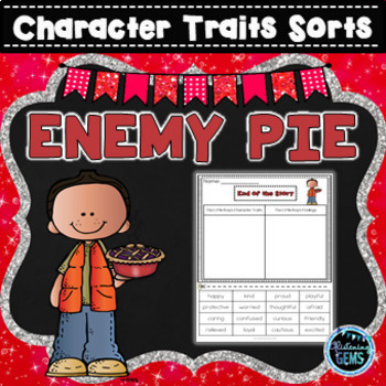 Enemy Pie- Character Traits Sorting, Feelings & Physical Traits