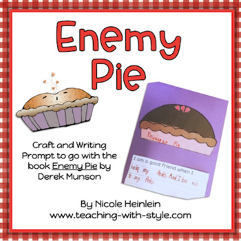 This freebie includes a writing prompt and craft to help your students reflect on the message of the story!   • First, read the book.  • Discuss how the main characters change throughout the story from friends to enemies • Then, brainstorm ways your students are good friends to others • Last, create the friendship pie craft and write out their ideas  This activity would be perfect for a whole class counseling session, learning about character traits and behavior expectations, or even an easy writing lesson for sub plans.