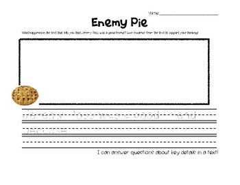 Enemy Pie Exit Ticket