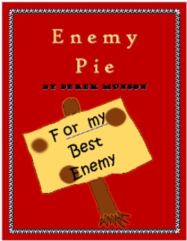 Enemy Pie: Printable Story Comprehension Activities