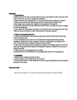 Enemy Pie Read Aloud Lesson Plan