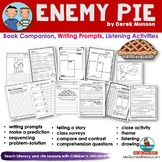 Enemy Pie - Reader Response Page and Writing Prompts