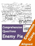 Enemy Pie Reading Comprehension Worksheets for Grades 3-5