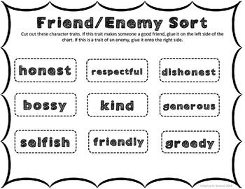 Enemy Pie Unit - Back To School Activities
