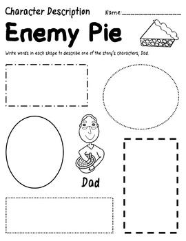 Enemy Pie by Derek Munsen: Literature Study (Common Core & TEKS Aligned)