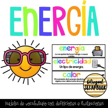 Energia (Energy Vocabulary Cards in Spanish)