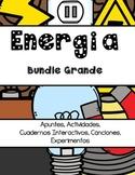 Energía (Luz, Sonido, Electricidad, Calor) Cuaderno Interactivo, Apuntes, Lab