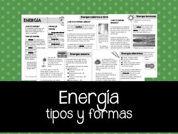 Energía: tipos y formas
